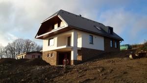 Rodinný dům v Mistrovicích - pohled zboku