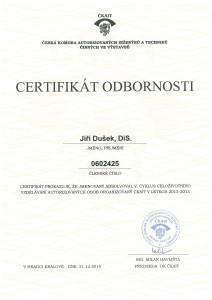 Jiri-Dusek-Certifikat-odbornosti