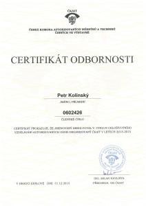 Petr-Kolinsky-Certifikat-odbornosti